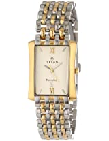 Titan Regalia Analog Beige Dial Men's Watch - NE1927BM02