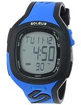 Soleus digital Stride Blue Men's sports watch - SR016-040