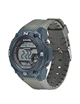 Sonata Superfibre Digital Grey Dial Men's Watch - 77033PP01