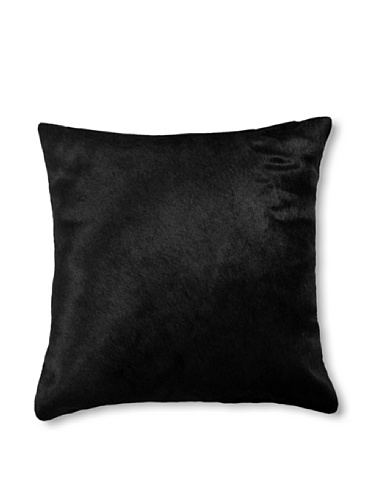 Natural Torino Cowhide Pillow (Black)