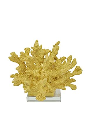Three Hands Gold Resin Coral with Base