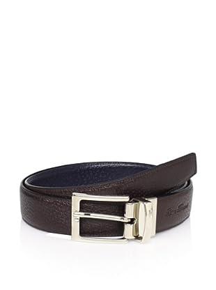 Leone Braconi Men's Reversible Belt (Brown/Blue)