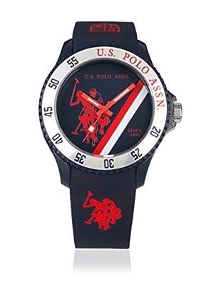U.S. POLO ASSN. Uhr mit japanischem Quarzuhrwerk Cooper blau 44 mm