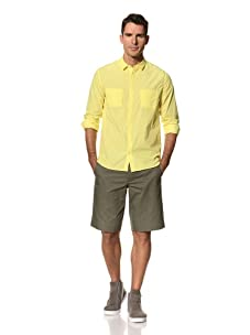 Yigal Azrouël Men's Sea Island Cotton Shirt (Maize Yellow)