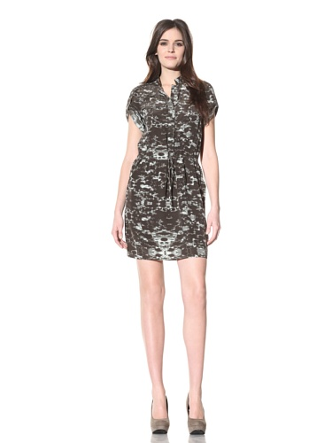 Andrew Marc Collection Women's Silk Shirt Dress (Loch)