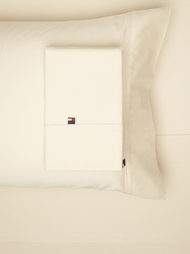 Tommy Hilfiger TH T300 Solid Sheet Set (Ivory)