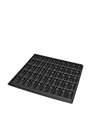 1000-Piece Poker Chip Storage Tray, Black