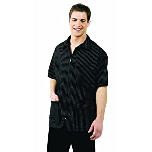 Betty Dain Signature MVP Barber Jacket, Black with White Stripes, 3x, 1-Pound