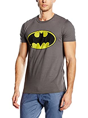 DC Comics T-Shirt Manica Corta Batman Distressed Logo