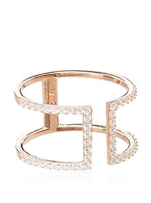 Alexandra Plata Ring  rosarot DE 52 (ES 12)