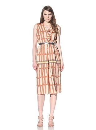 MARNI Women's Sleeveless Dress with Ruffle (Amber Natural)