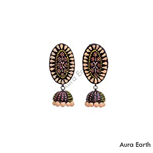 AUrA-EArTH Fat Stud Jhumkas