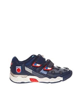 Footgol Sneaker doppelter Klettverschluss (Blau)