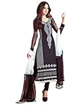 Fazals Women Georgette Salwar Suit Set (262628L _Black _Large)