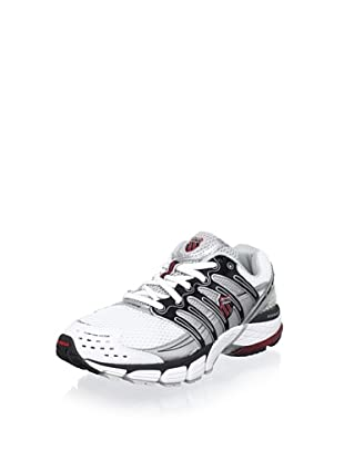 K-Swiss Men's Konejo II Running Shoe (White/Silver/Black/True Red)