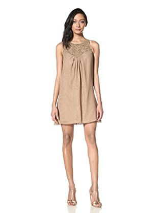Alexia Admor Women's Embellished Silk Shift Dress (Otter)