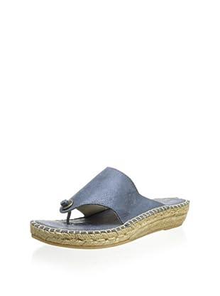 André Assous Women's Annette Low Thong Sandal (Blue)