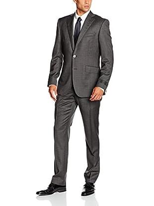 Pedro del Hierro Traje Hombre L.A. Tailored Microcuadro Gris ES 54