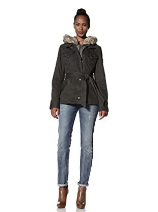 Buffalo David Bitton Women's Belted Coat with Hood (Autumn Grey)