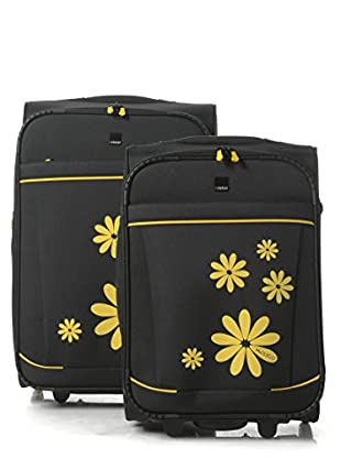H.Due.O Set Trolley Hippy Flowers Giallo