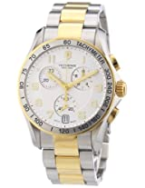 Victorinox Swiss Army Men's 241509 Chrono Classic Two Tone Chronograph Dial Watch