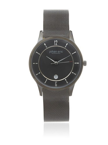 Johan Eric Men's JE2002-13-007 Black Hobro PVD Mesh Stainless Steel Watch