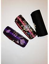 "Lipstick Case 3pcs Set Lipstick Case w/Mirror,Hi-End Japanese Textiles Fabric with Floral Design ,Random Colors, Assorted 3.5""L x 1.25""W Holds 1pc Standard Lipstick ,Super Value ,100% Satisfaction Guaranteed !"