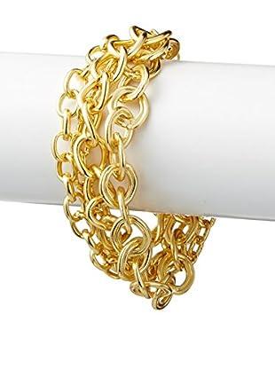 Karine Sultan Jewelry Multi Row Chain Bracelet
