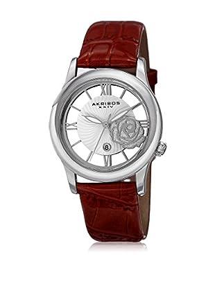 Akribos XXIV Uhr mit Japanischem Quarzuhrwerk AK837RD rot 34  mm