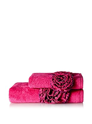 Mirabello Carrara Guest & Hand Towel Set, Ginger