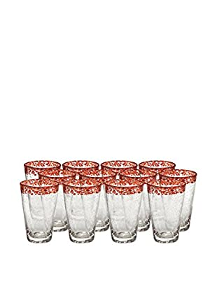 Artland Mingle Set of 12 Tumblers, Red
