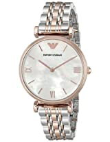 Emporio Armani Analog Mother of Pearl Dial Women's Watch - AR1683
