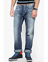 Blue Regular Fit Jeans (Holborne)