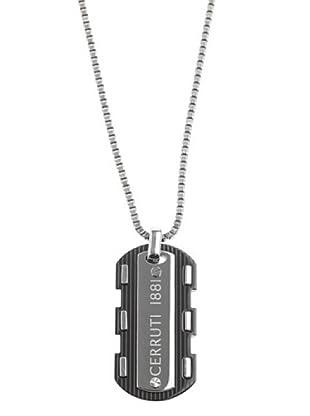 Cerruti Collar RH41099NS Acero y Patina de Metal Negro