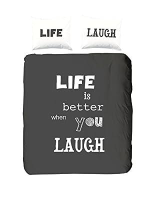 Good Morning Bettdecke und Kissenbezug Laugh