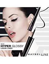 Maybelline Hyper Glossy Liquid Eyeliner Black for Dramatic, Dazzling Eyes Hyper Glossy Liquid Liner