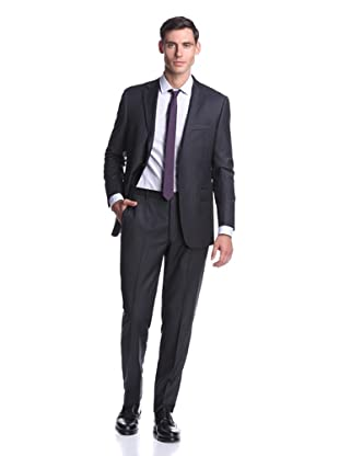Hickey Freeman Men's Pinstripe Suit (Charcoal)