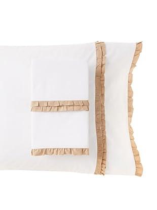 Amity Home Set of 2 Petite Ruffle Pillowcases (Taupe)
