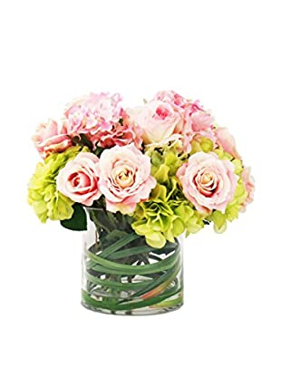 Creative Displays Mixed Rose & Spring Hydrangea Water Floral, Pink/Green
