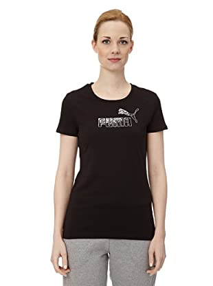 Puma Damen T-Shirt Large Logo (Black)