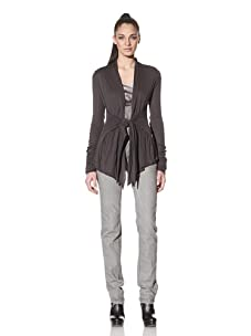 Rick Owens Lilies Women's Tie-Front Cardigan (Charcoal)