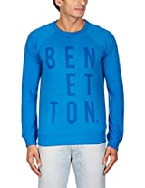 United Colors of Benetton Men's Cotton Sweatshirt (8903975024892_15A3S44J1426I901EL_XX-Large_Royal Blue)