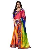 Shoppingover Saree (Multicolor)