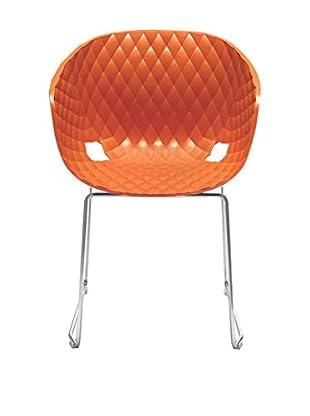 Metalmobil Stuhl Unika-595 orange/chrom