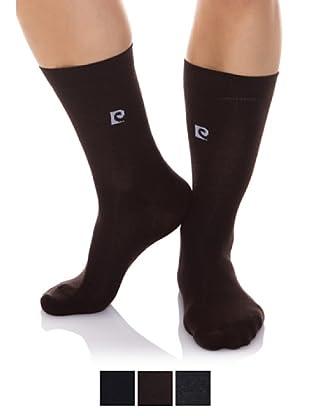 Pierre Cardin Pack x 3 Pares Calcetines Algodón-Elastán Básico (Surtido)