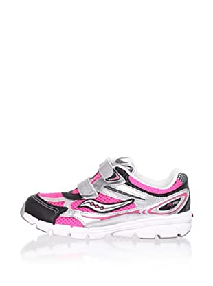 Saucony Kid's ViziPro H&L Running Shoe (Toddler/Little Kid) (Pink)