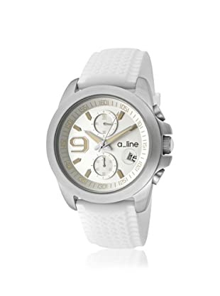 a_line Women's 80011-02-WH Aroha White Silicone Watch