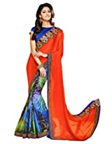 Gopalclothdesigner Art Silk Resham Saree (iwgy145_Multicolor)