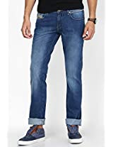 Blue Regular Fit Jeans(Floyd) Wrangler