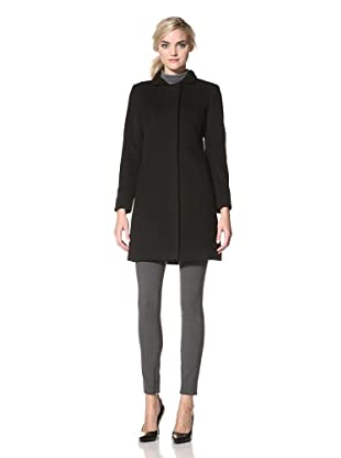 Via Spiga Women's Ella Wool Jacket with Stand Collar (Black)